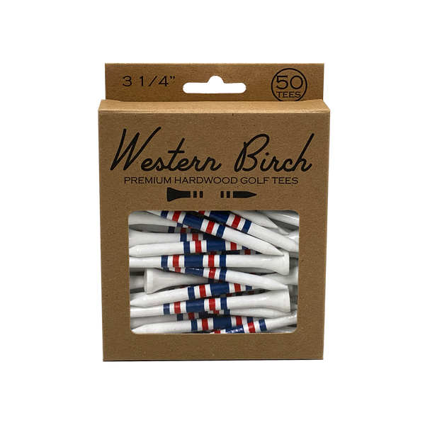 """Boston Tee Party"" 3 1/4"" Striped Golf Tee"