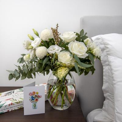 The Imogen White Bouquet - Floraly Australia