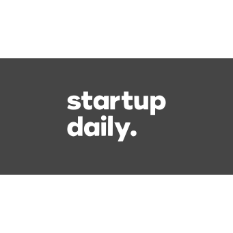 startup daily logo inverted