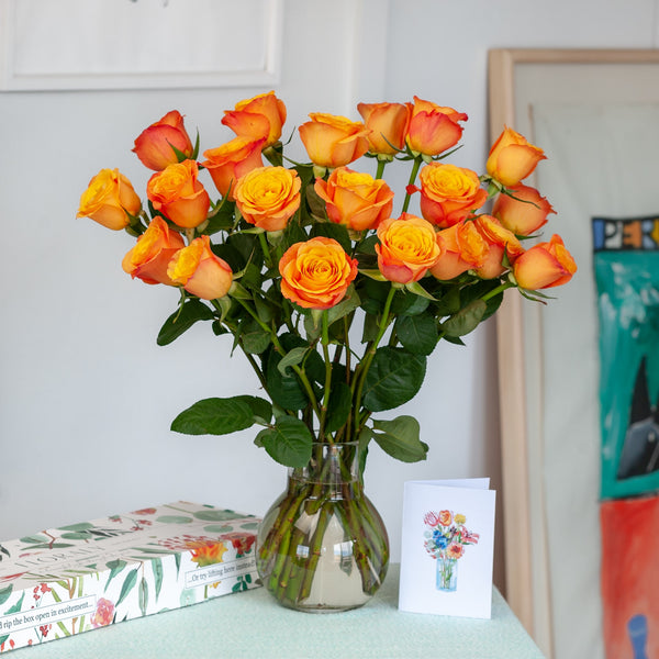 Deluxe Sunset Roses - Floraly Australia