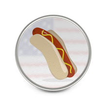 "Load image into Gallery viewer, ""Team Hot Dog"" Pin"