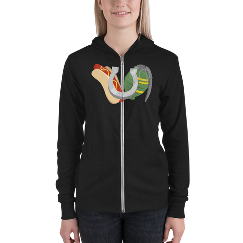 Hot Dogs, Horseshoes & Hand Grenades Logo Zip Hoodie