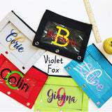 Personalized Pencil Pouches | 3 Ring Binder
