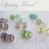 Spring Fever Monogram Earrings - VioletFox