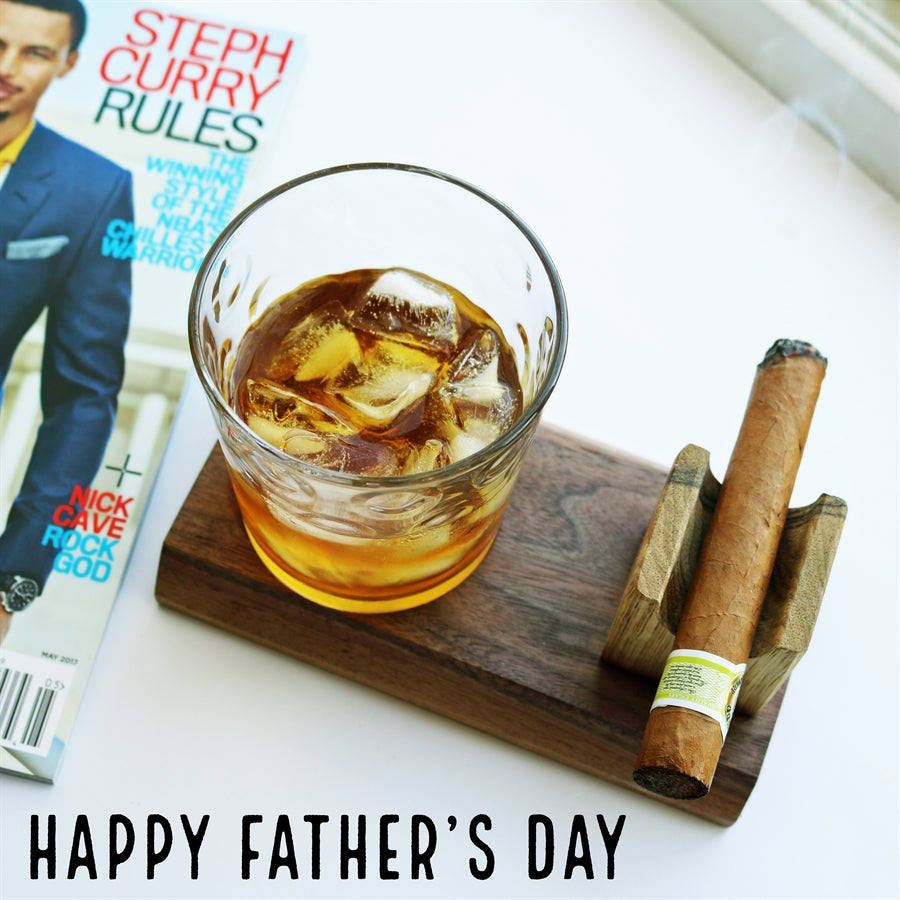 Dad's Cigar & Drink Holder | Handmade - Krafty Chix New