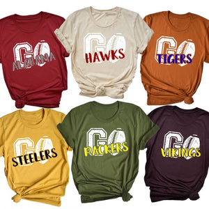Go Football Team Game Day Tees