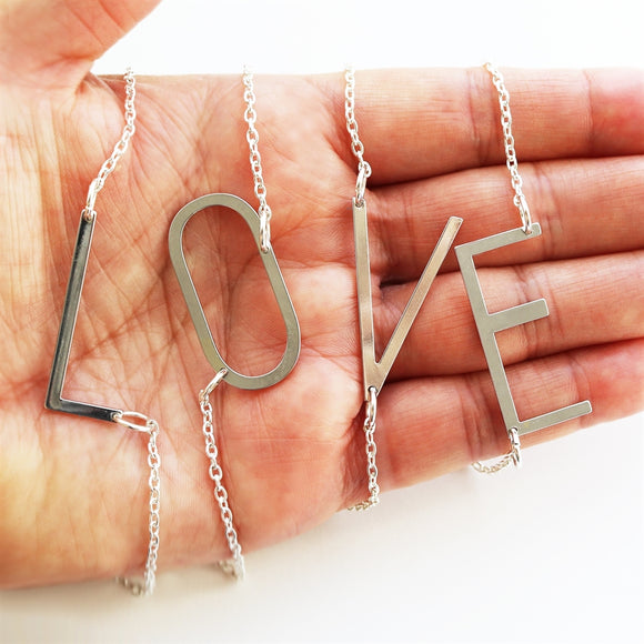 Trendy Large Initial Necklaces - VioletFox