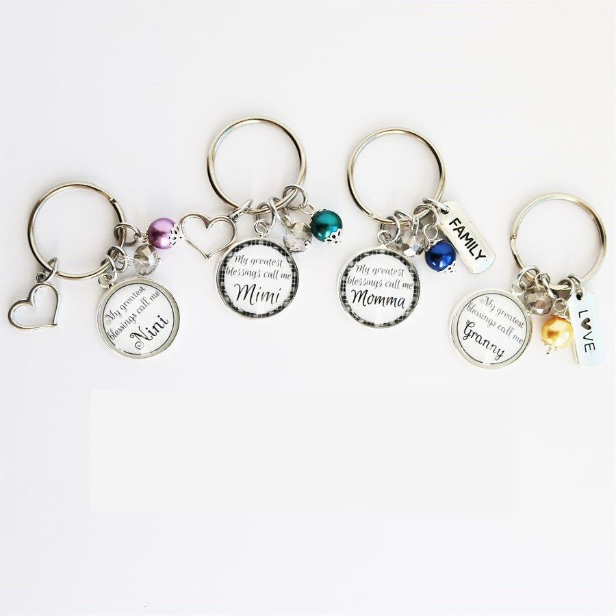 My Greatest Blessings Key Chains - Krafty Chix New