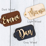 Handmade 3D Wooden Name Tags