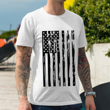 Men's 4th of July Flag Tees