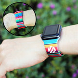 Rainbows & Steampunk Personalized Apple Silicone Watch Bands