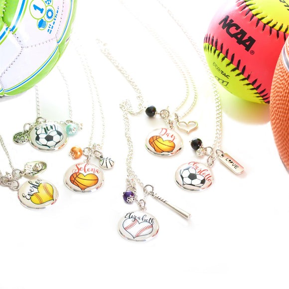 Personalized Heart-Shaped Sport Necklace - VioletFox