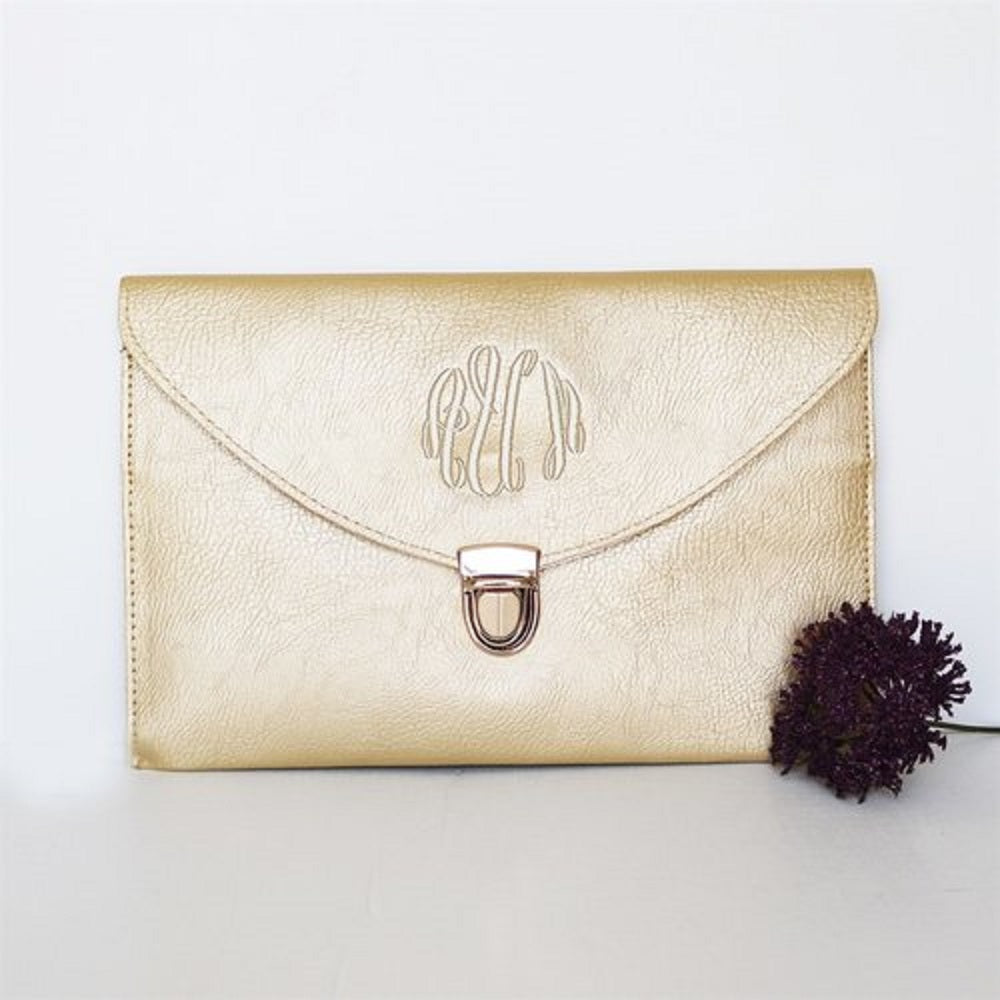 Monogram Clutch - Krafty Chix New
