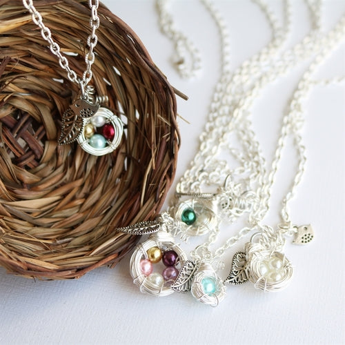 Mother's Family Nest Necklace - Krafty Chix New
