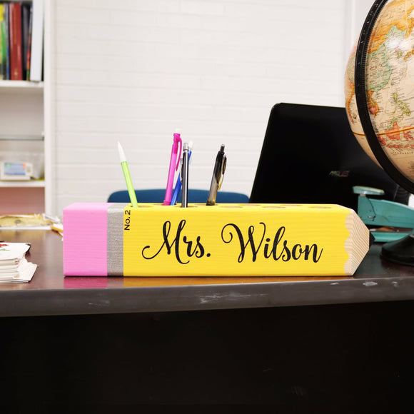 Pencil or Crayon Sign & Holder - Krafty Chix