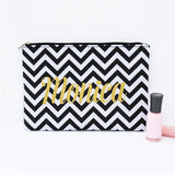 Personalized Travel Cosmetic Bag - VioletFox