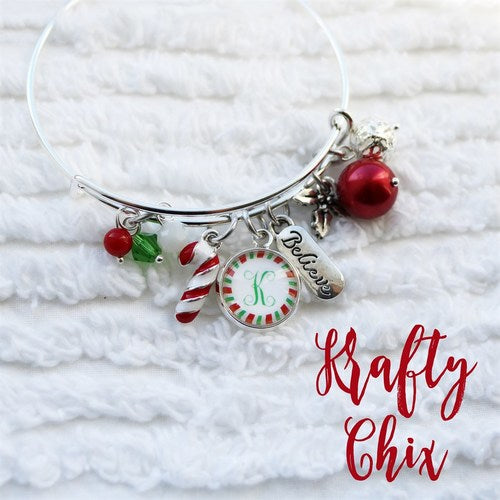Christmas Charm Bangle - Krafty Chix New