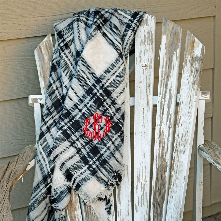 Monogram Tartan Scarves - Krafty Chix New