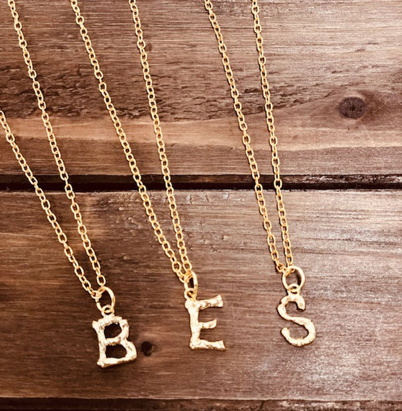 Bamboo Initial Necklaces