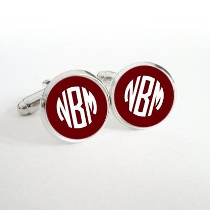 Monogram Cuff Links OR Tie Clip