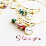 My Family, My Heart Bangle Bracelet - Krafty Chix