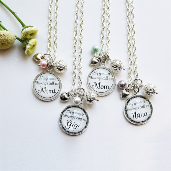 My Greatest Blessings Necklace - Krafty Chix