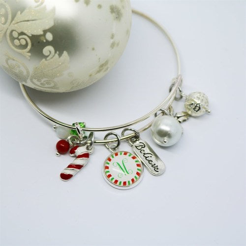 Christmas Charm Bangle - Krafty Chix