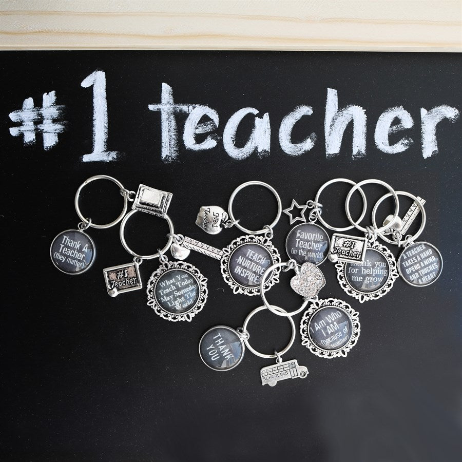 Teacher Chalkboard Keychains - Krafty Chix New