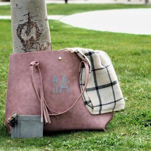Personalized Dusty Pink Desi Totes