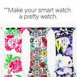 Pattern Apple Silicone Watch Bands | Monogrammed - Krafty Chix
