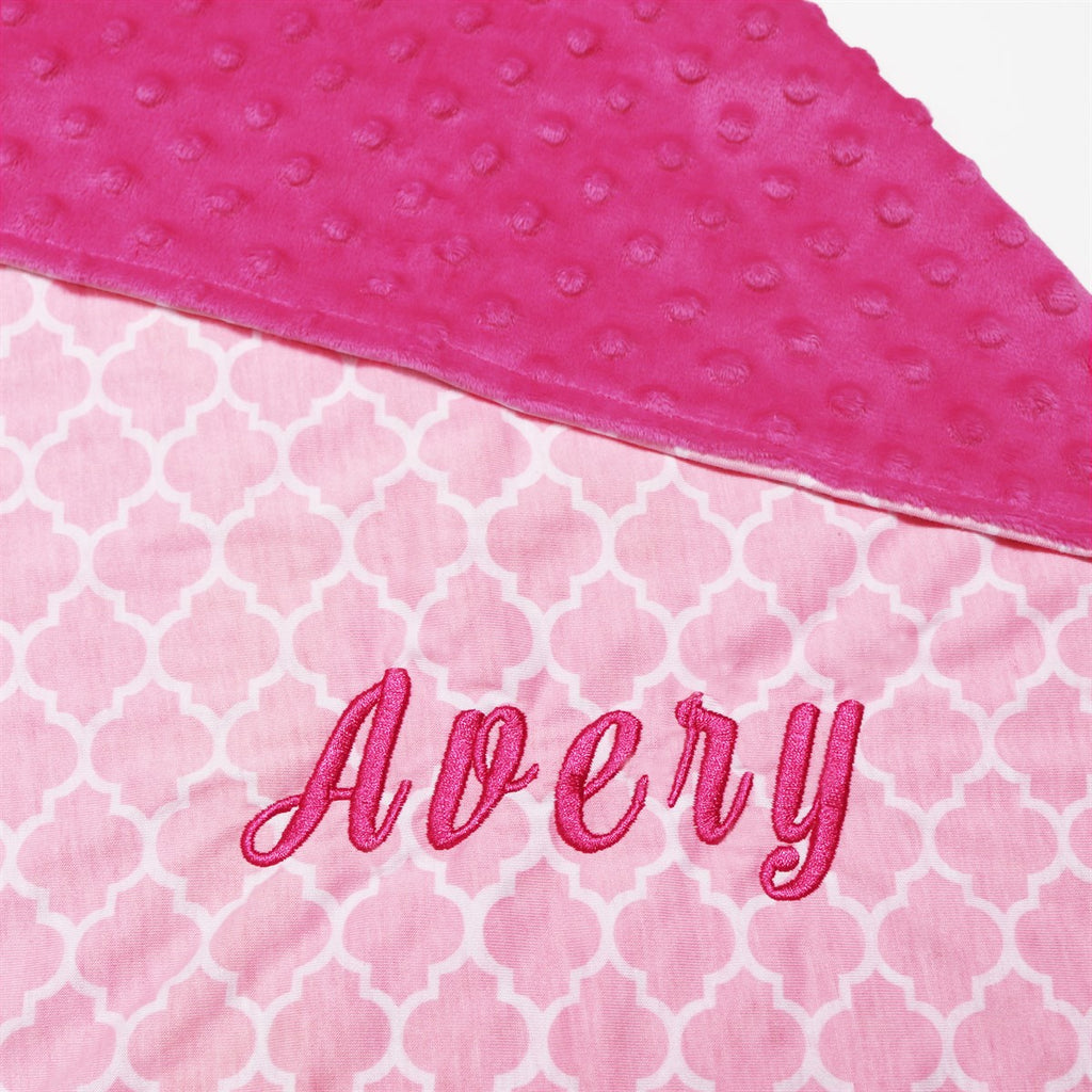 Personalized Minky Blankets - Krafty Chix New