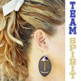 Leather Football Earrings - Krafty Chix