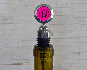 Personalized Wine Stopper - VioletFox