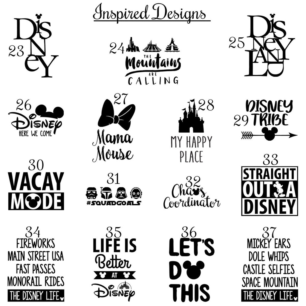 Character Inspired T-Shirt | 37 Designs! - Krafty Chix New