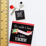Teacher Chalkboard Necklaces | Bonus Gift Tag - VioletFox
