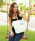 Monogram Burlap Totes |  Fully Lined - Krafty Chix