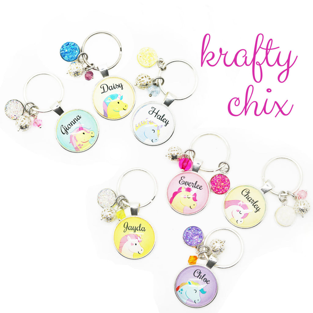 Personalized Unicorn Backpack Tags - Krafty Chix New