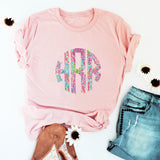 Lily Inspired Patterned Monogram Tees - Krafty Chix