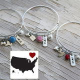 State Charm Bangle - VioletFox