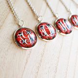 Valentine Red Plaid Necklaces - VioletFox