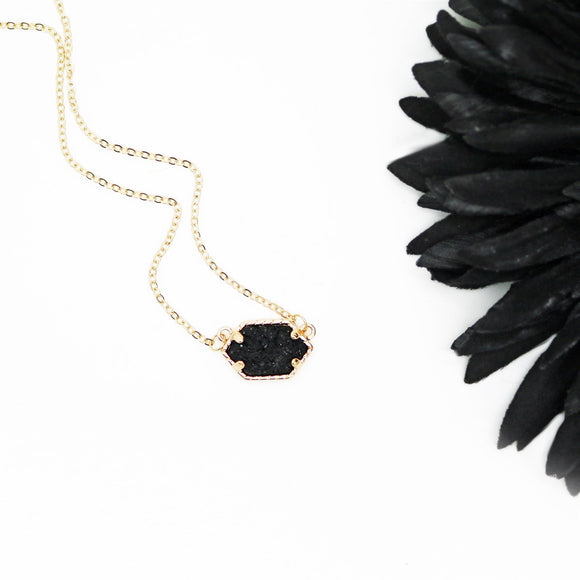 Druzy Pendant Necklace | CLEARANCE