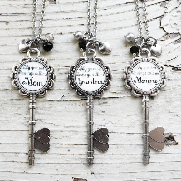 Family Blessing Skeleton Key Necklace - Krafty Chix