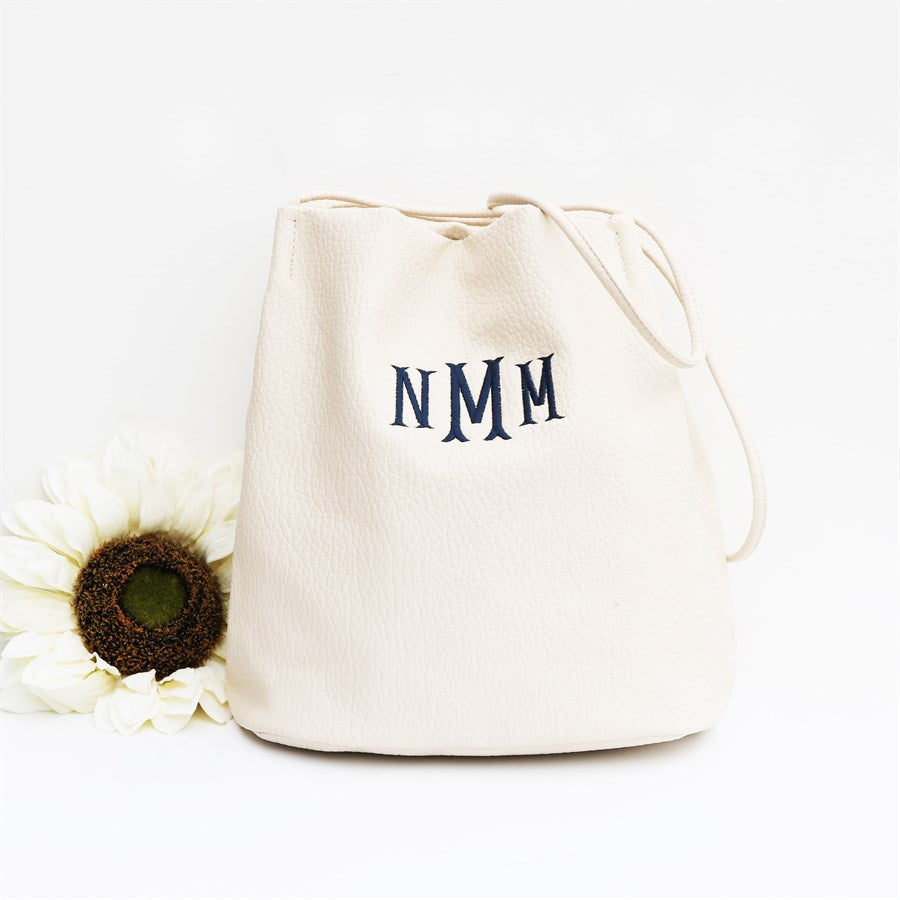 Large Bucket Bag | Monogrammed - Krafty Chix New