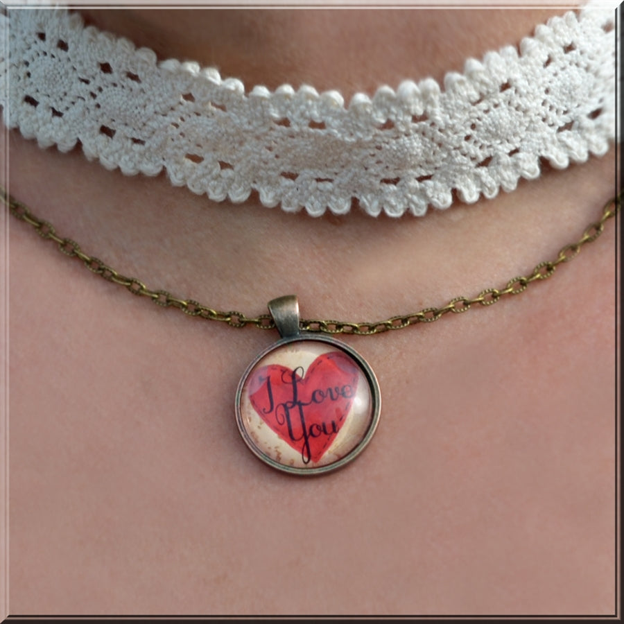 Valentine Initial Necklaces - Krafty Chix New