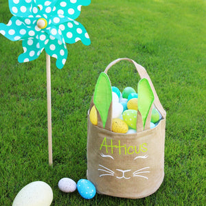 Personalized Bunny Ears Easter Basket - Krafty Chix