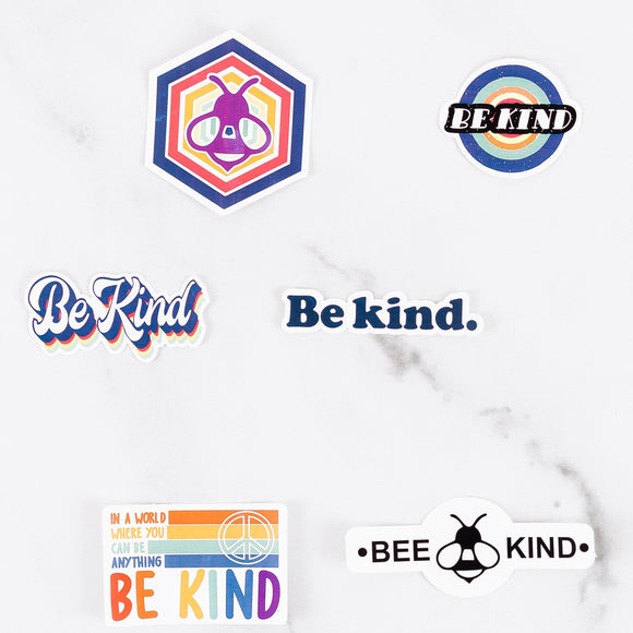Be Kind Stickers | Laptop Stickers | Pack of 2