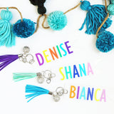 Color Pop Tassel Key Chains
