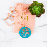 Spring/Summer Hand Knotted Monogram Necklace