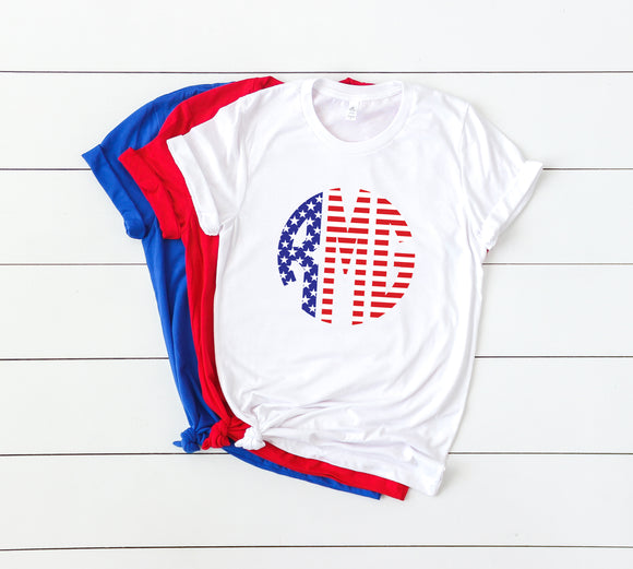 Monogram Patriotic Tees