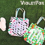 Monogram Patterned Beach Totes